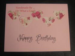 Birthday Hearts Card