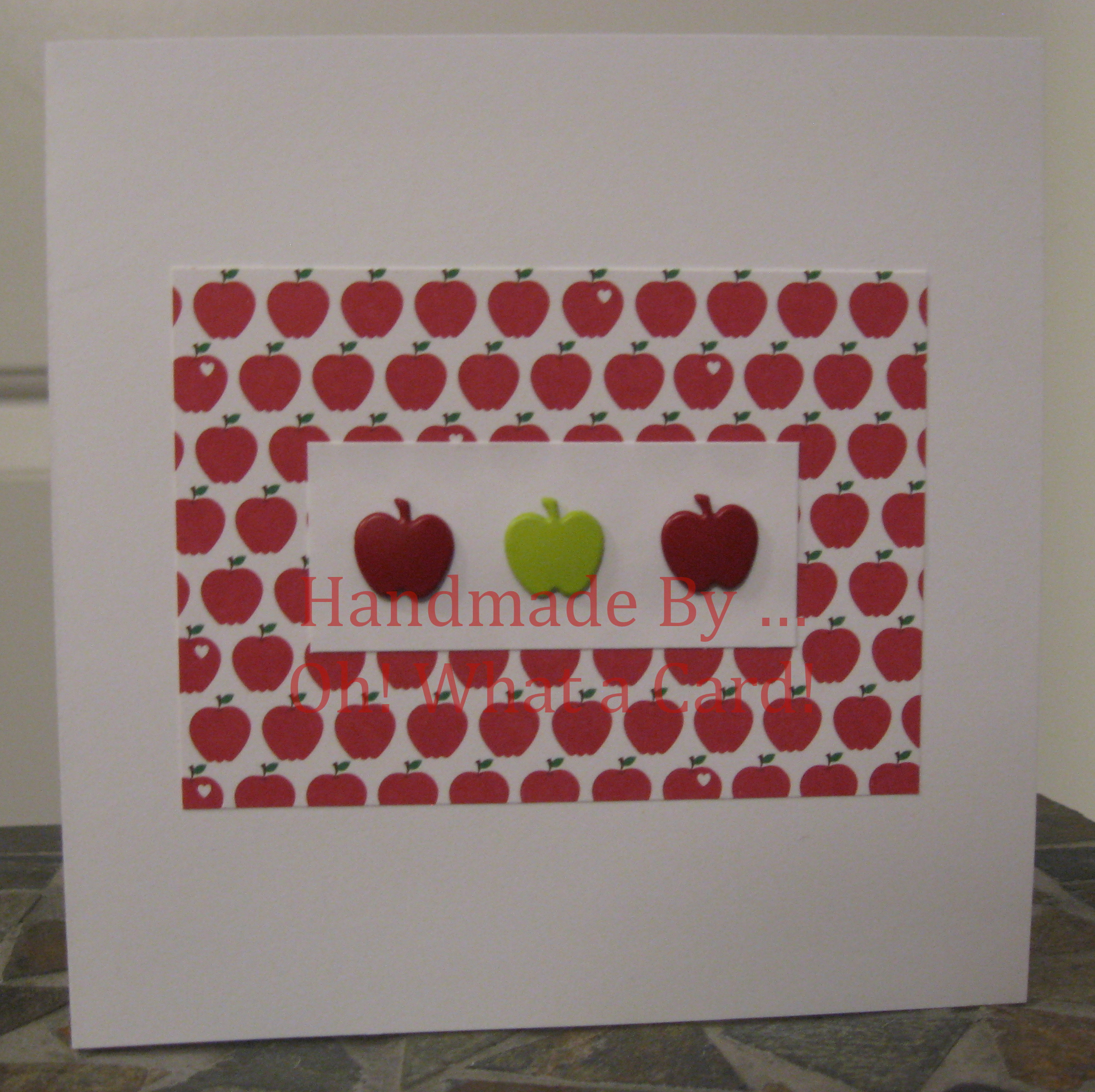Bright Bushel of Apples Card