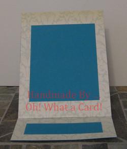 Picture Frame Blue Damask Mantle Display Card