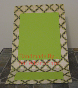 Picture Frame Light Green Diamonds Mantle Display Card
