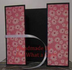 Black & Pink Flowers Shutter-Fold Card