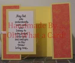 Orange 'Tender...' Shutter-Fold Card