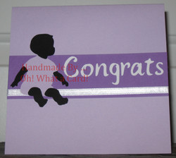 Baby Congrats Card - Purple