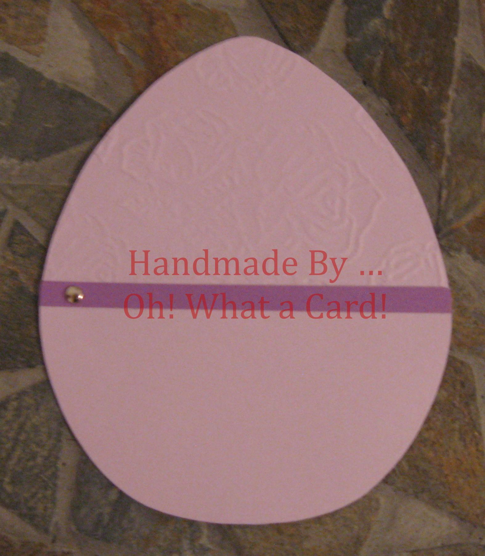 Purple Rose Embossed Easter Egg Card