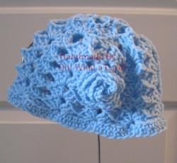 Blue Hat w/ Rosette - 18-24 Months