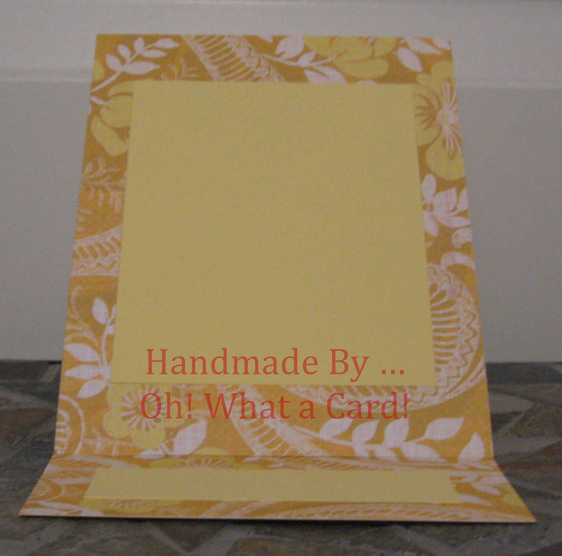 Blank Yellow Mantle Display Card