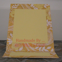 Picture Frame Yellow Mantle Display Card