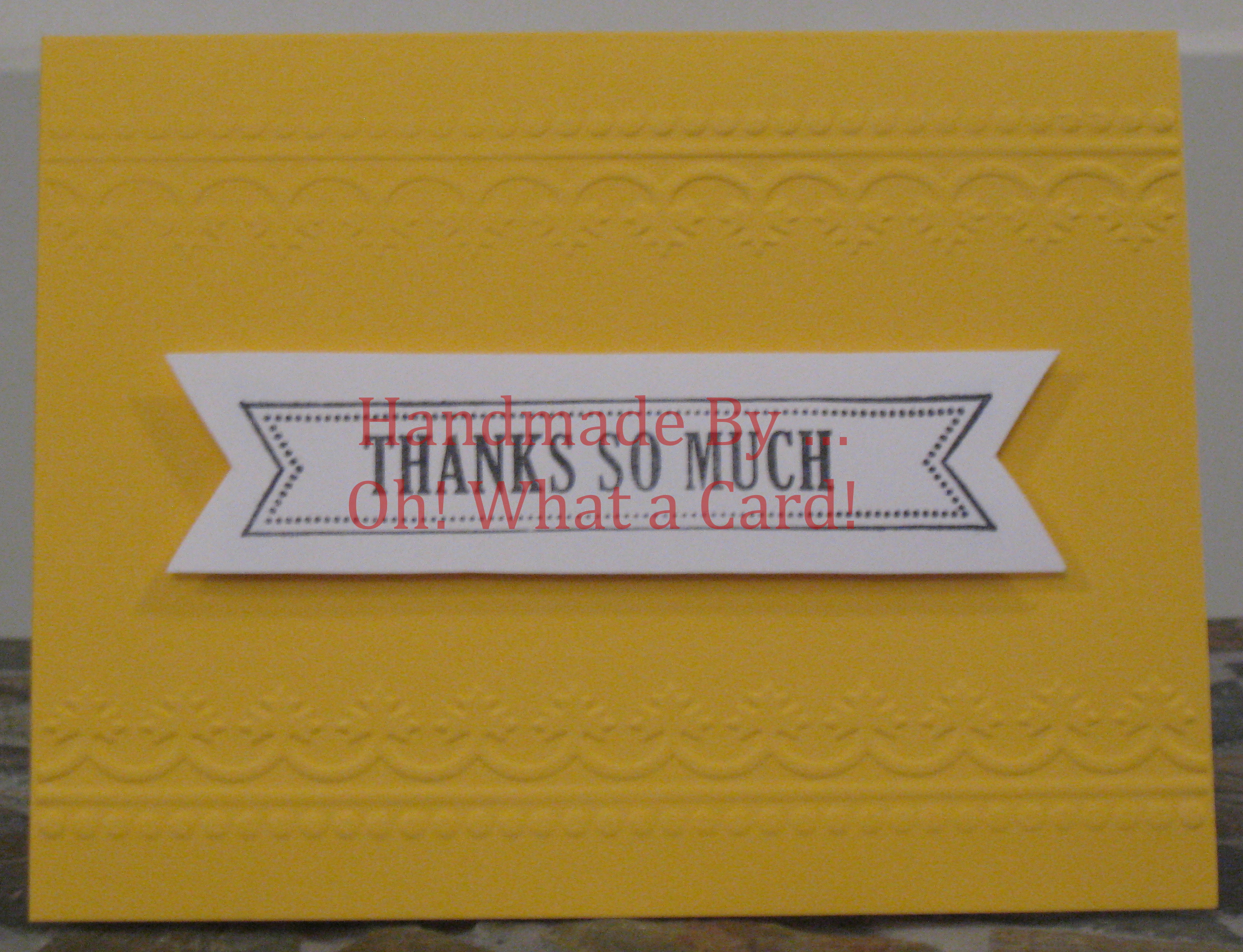 Thank You Banner Card
