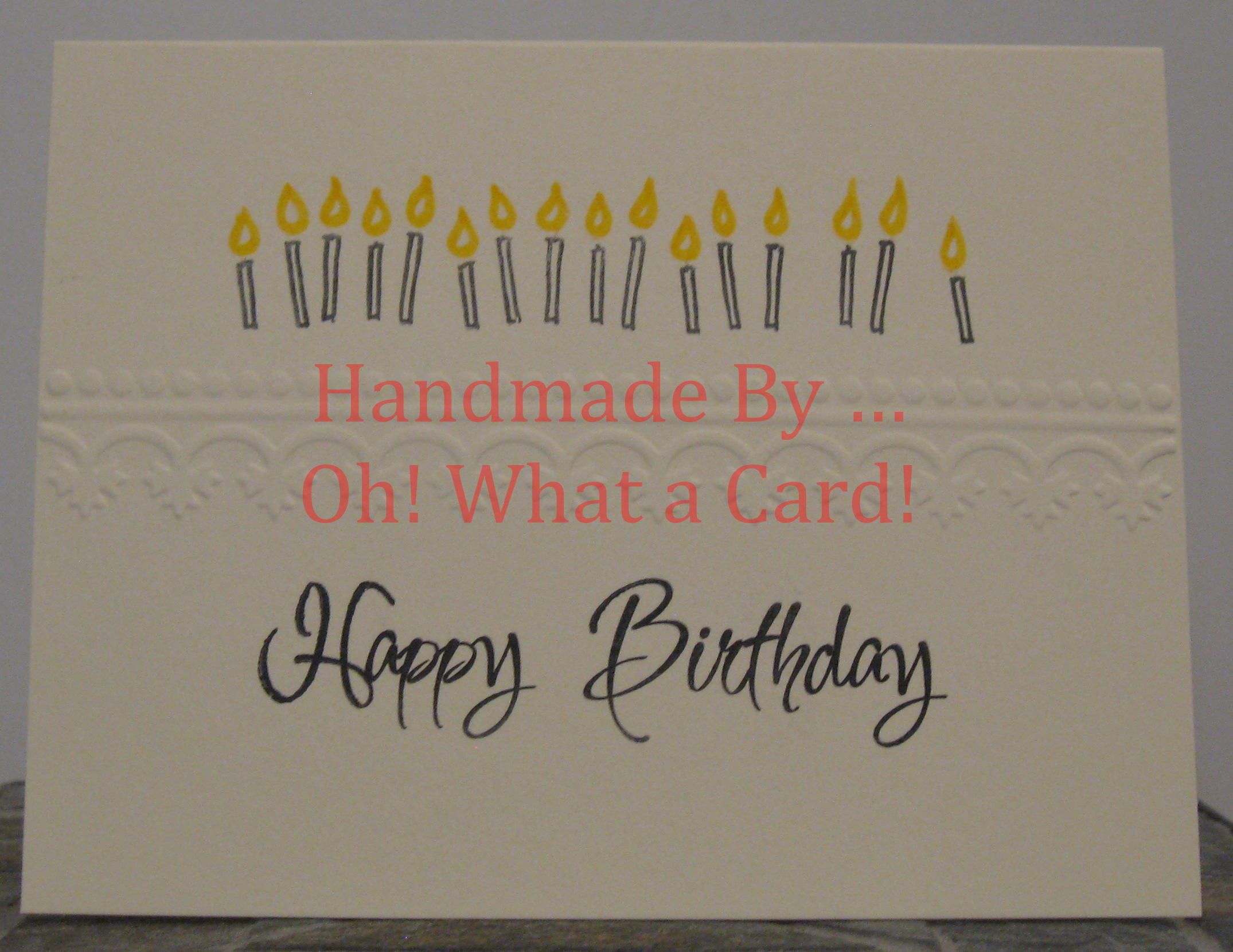 Happy Birthday Candles - Beige Card