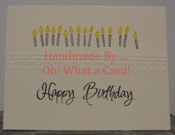 Happy Birthday Candles - Beige Card