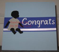 Baby Congrats Card - Blue