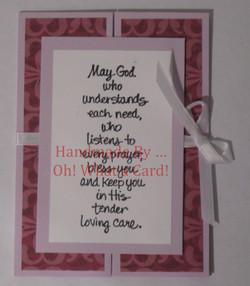 Violet 'Tender...' Shutter-Fold Card