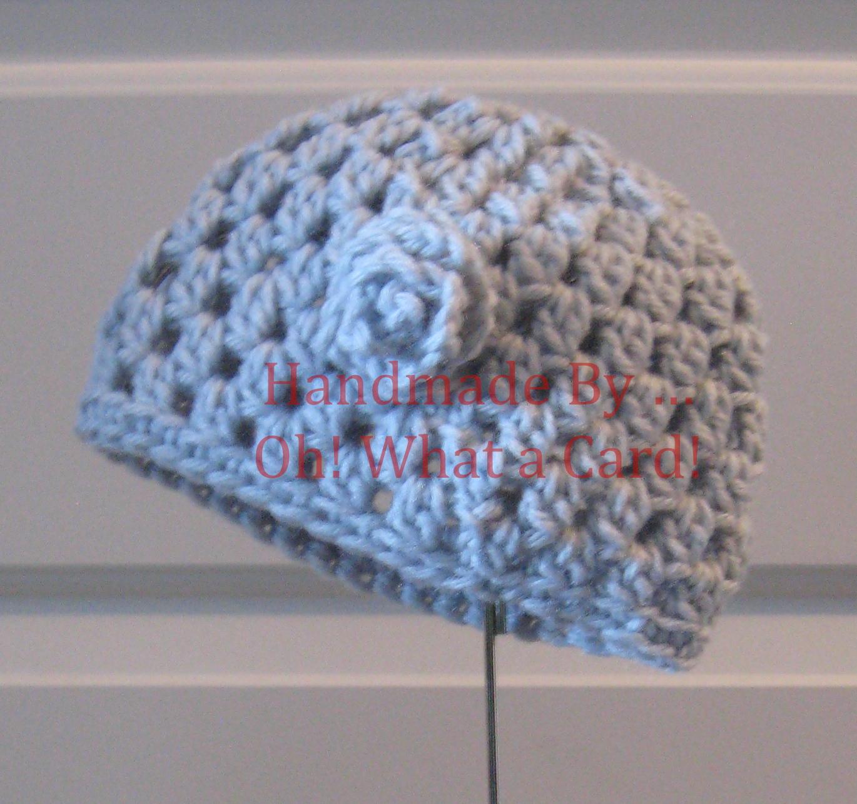Grey Hat w/ Rosette - 6-12 Months