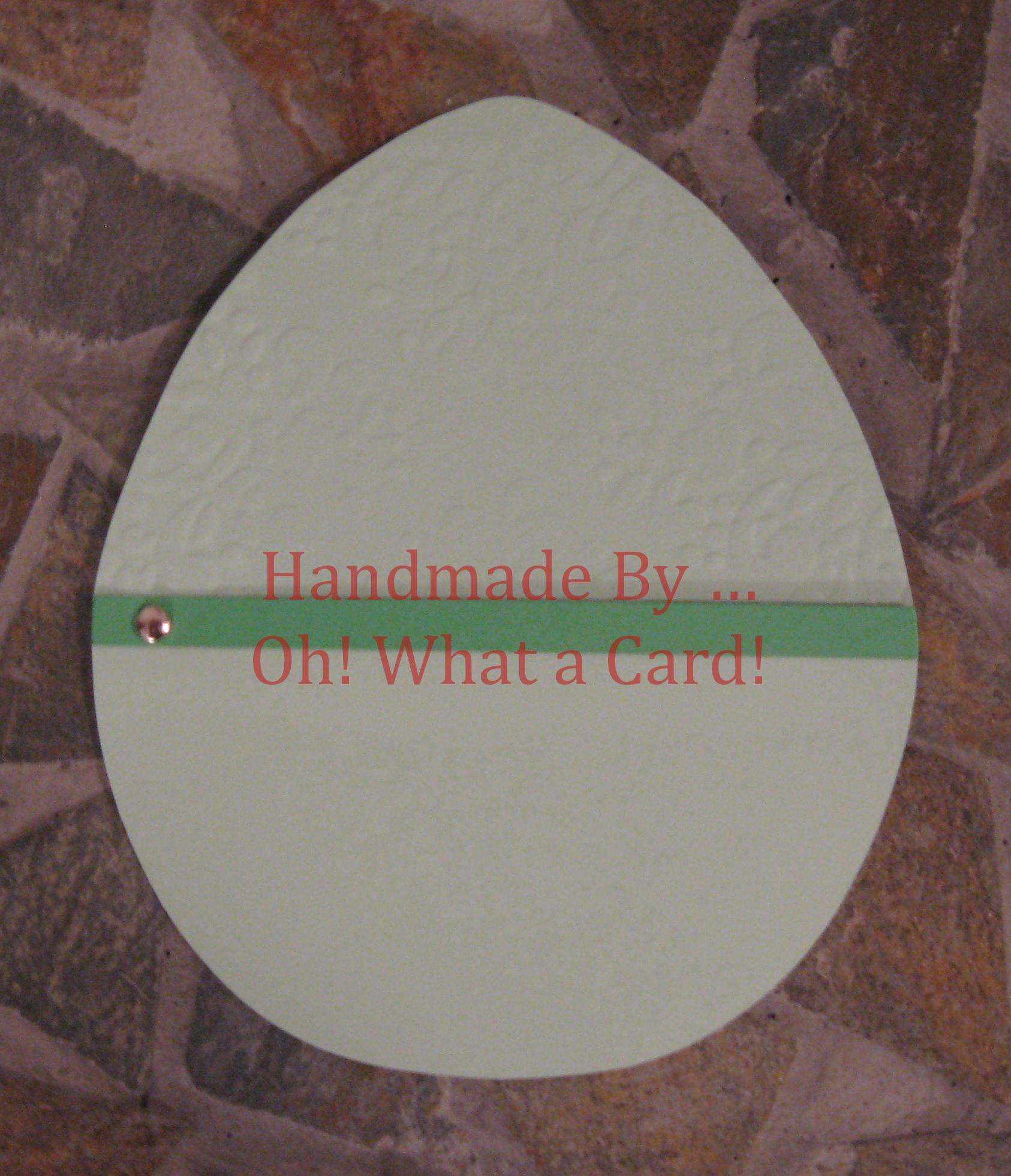 Green Damask Embossed Easter Egg