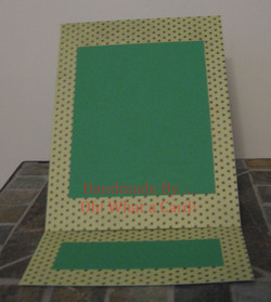 Picture Frame Polka Dots Mantle Display Card