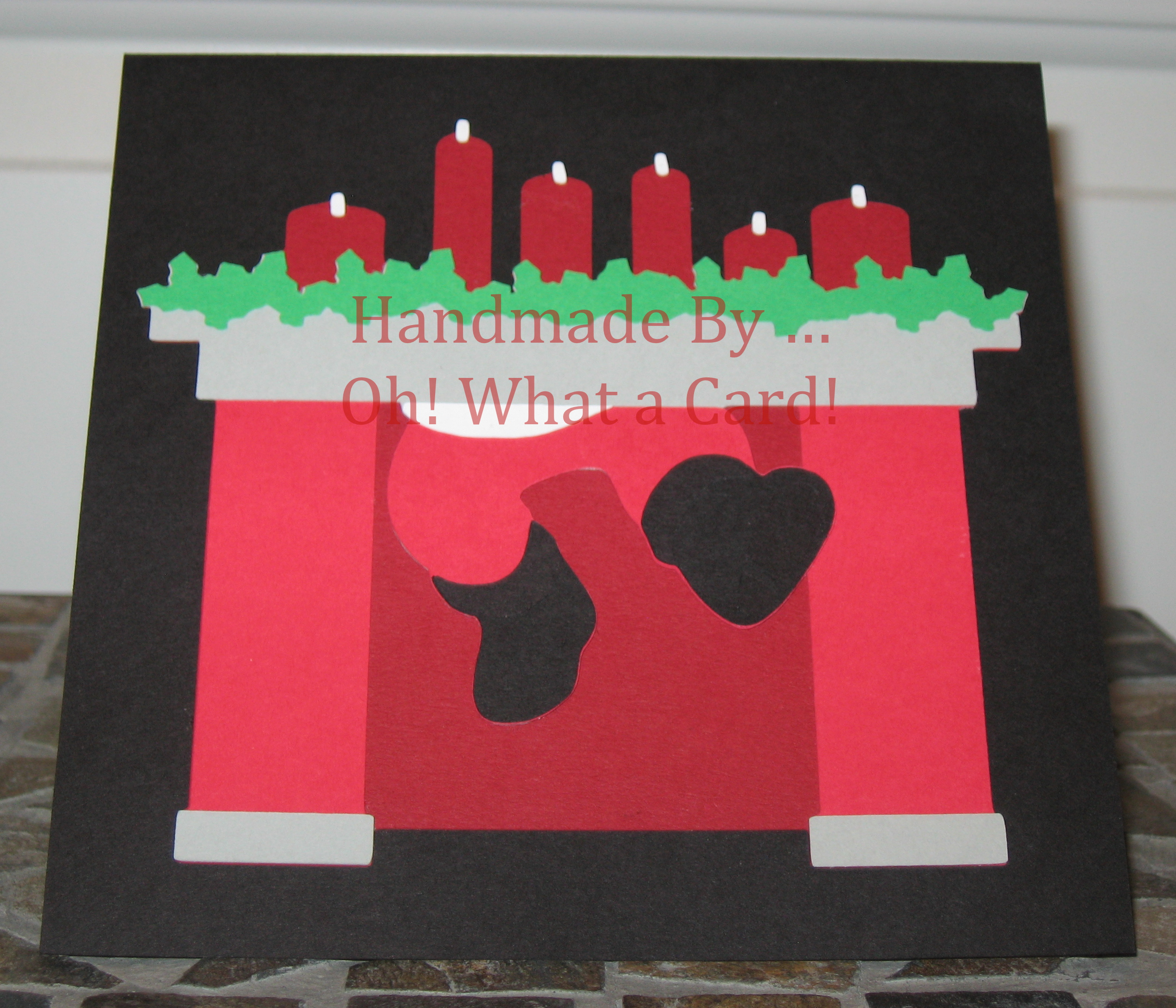 Santa in the Fireplace Card Set
