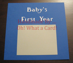 Baby Boy's First Year Scrapbook