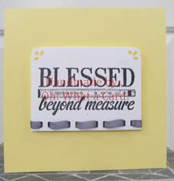 Blessed Beyond Measure Card