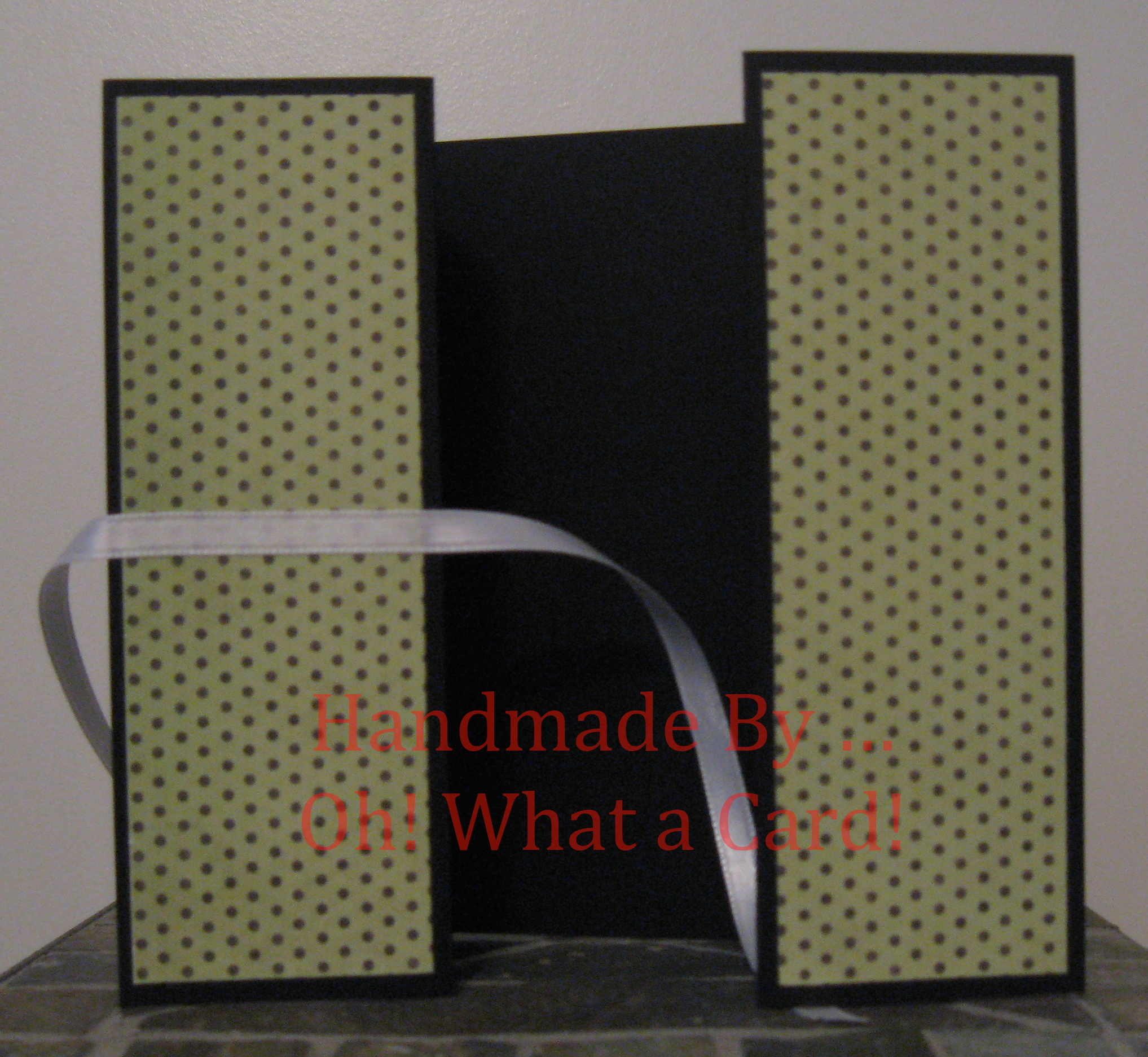 Black Polka Dots Shutter-Fold Card