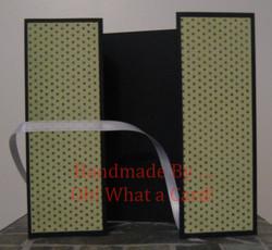 Black Polka Dots Shutter-Fold Card