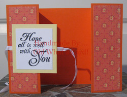 Hope All Is Well Shutter-Fold Card