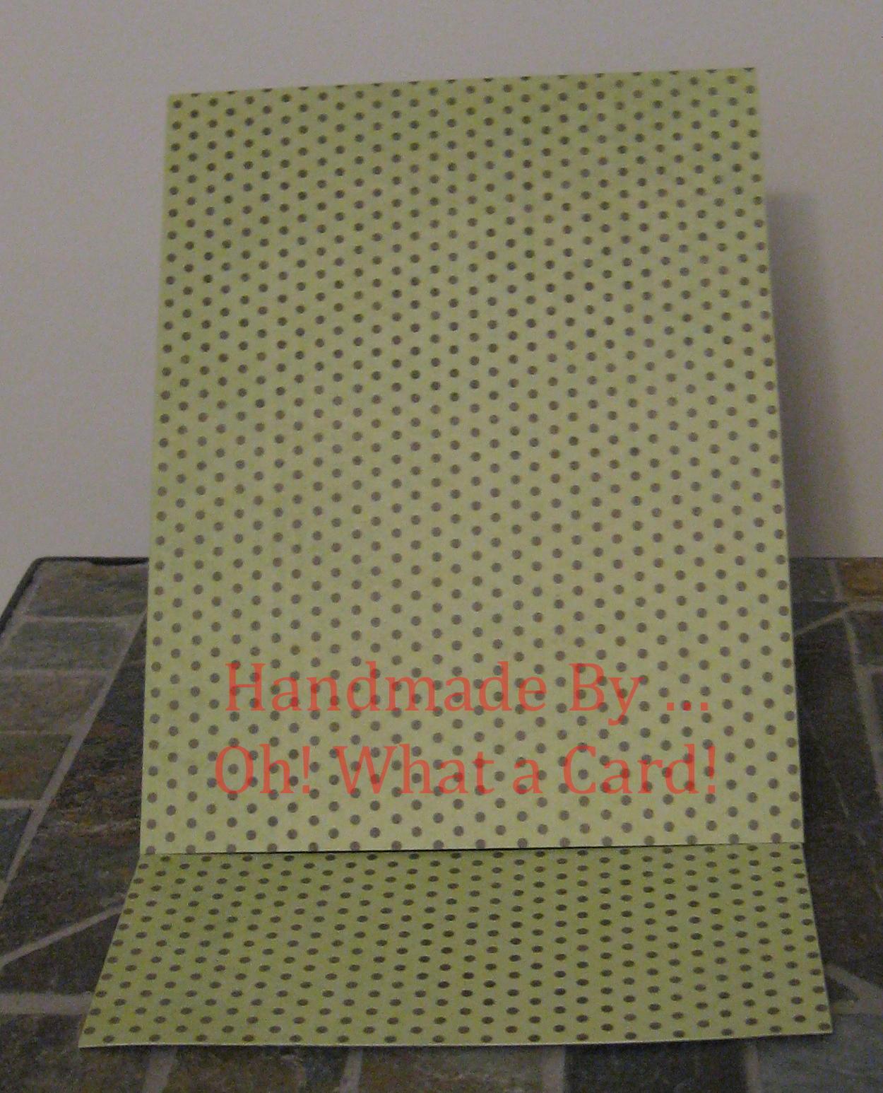 Blank Polka Dots Mantle Display Card