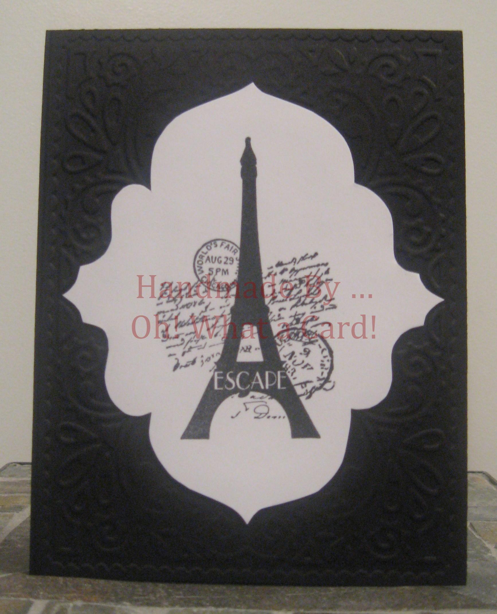 Eiffel Elegance - Black Card
