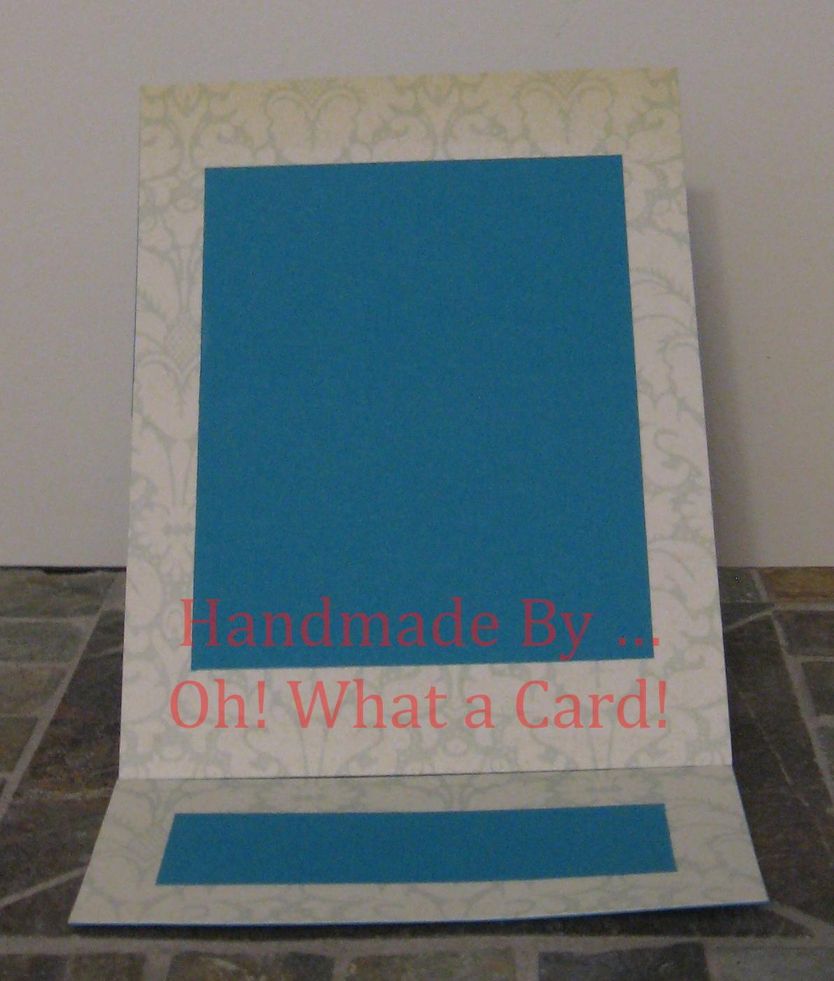 Blue Damask Mantle Display Card