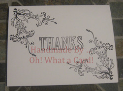 Floral Thanks Card