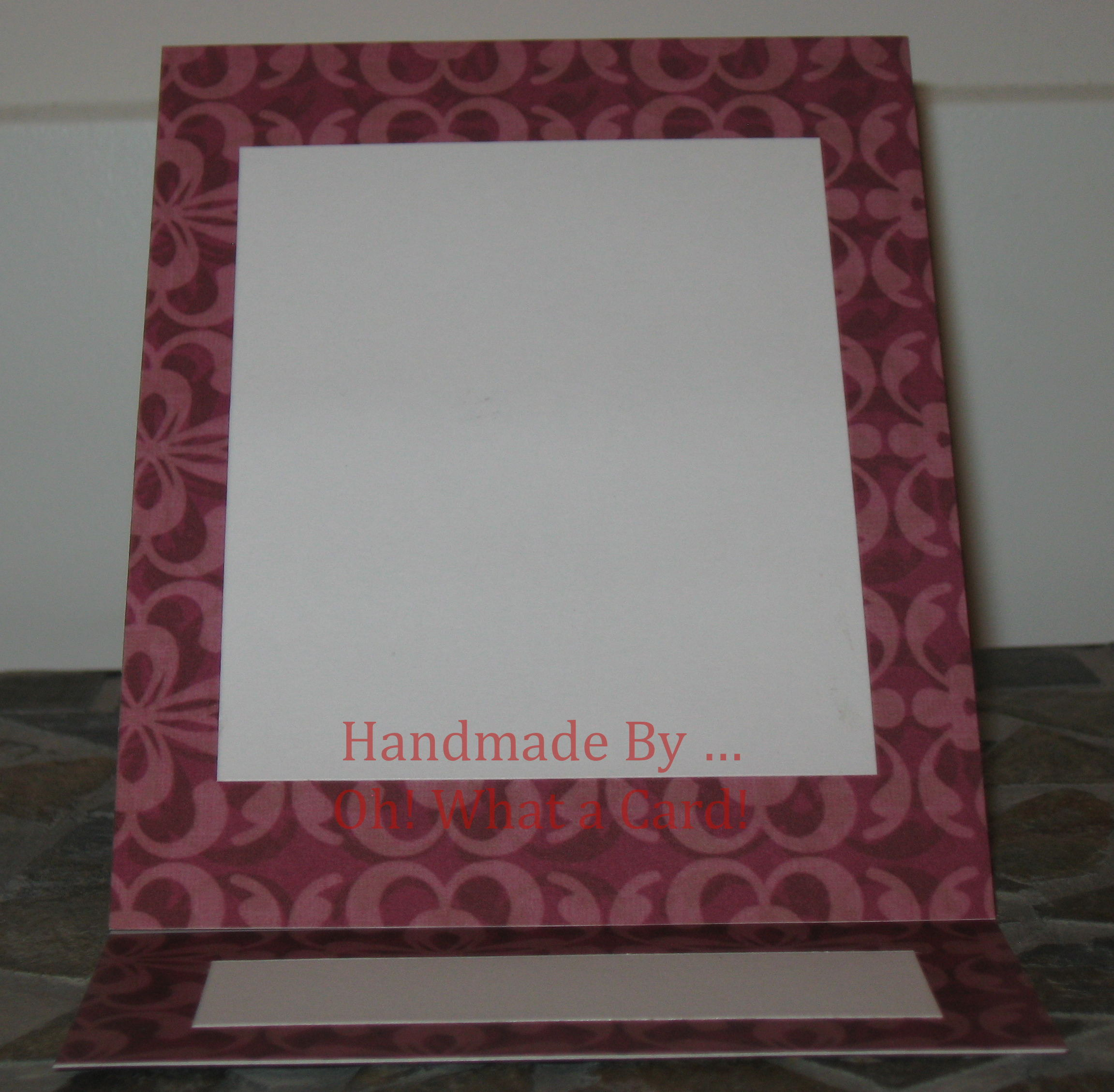 Blank Purple Mantle Display Card
