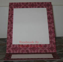 Picture Frame Purple Mantle Display Card