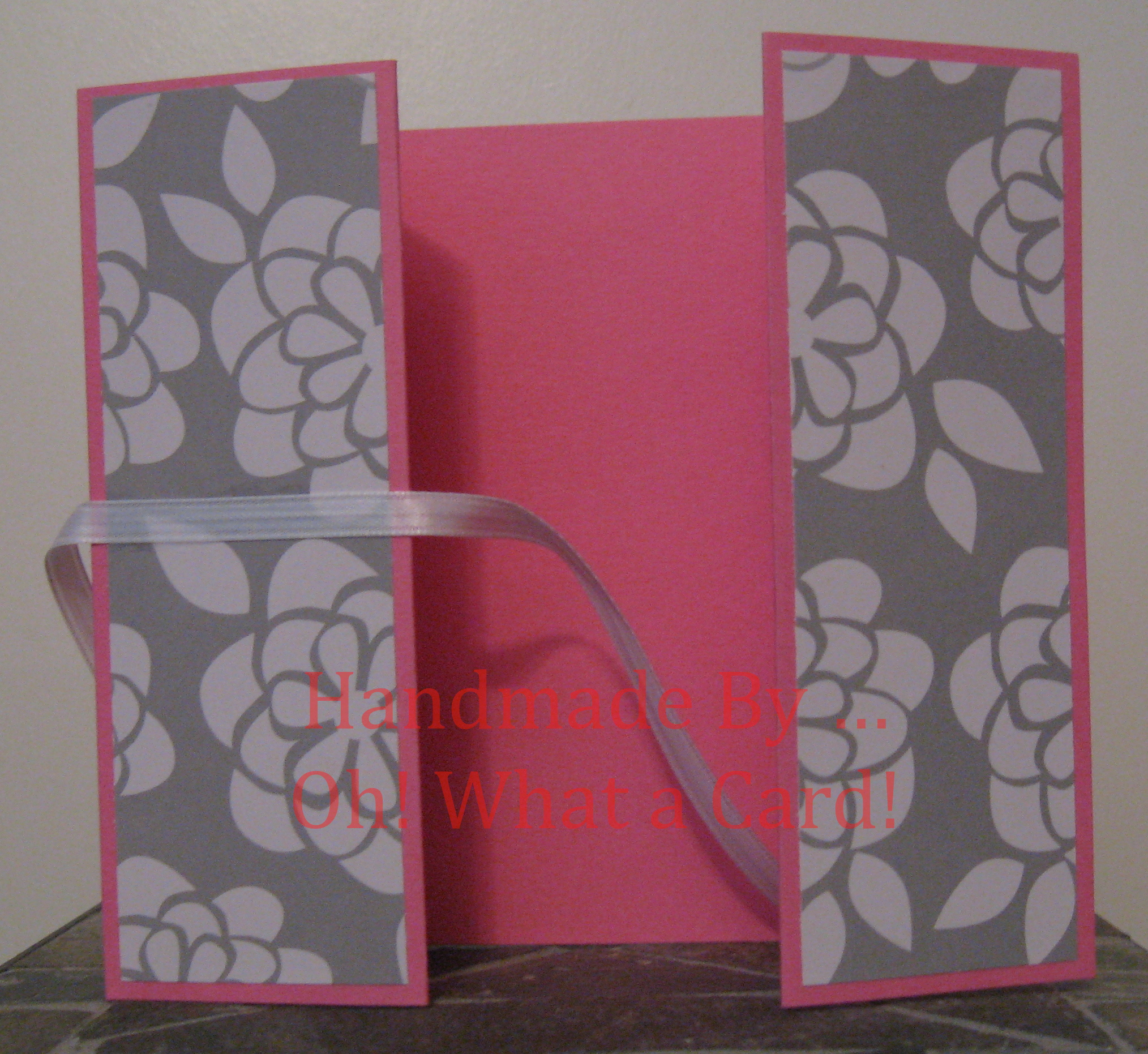 Pink White Flowers Shutter-Fold Card