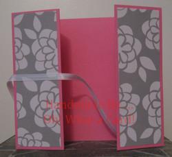 Pink White Flowers Shutter-Fold Card