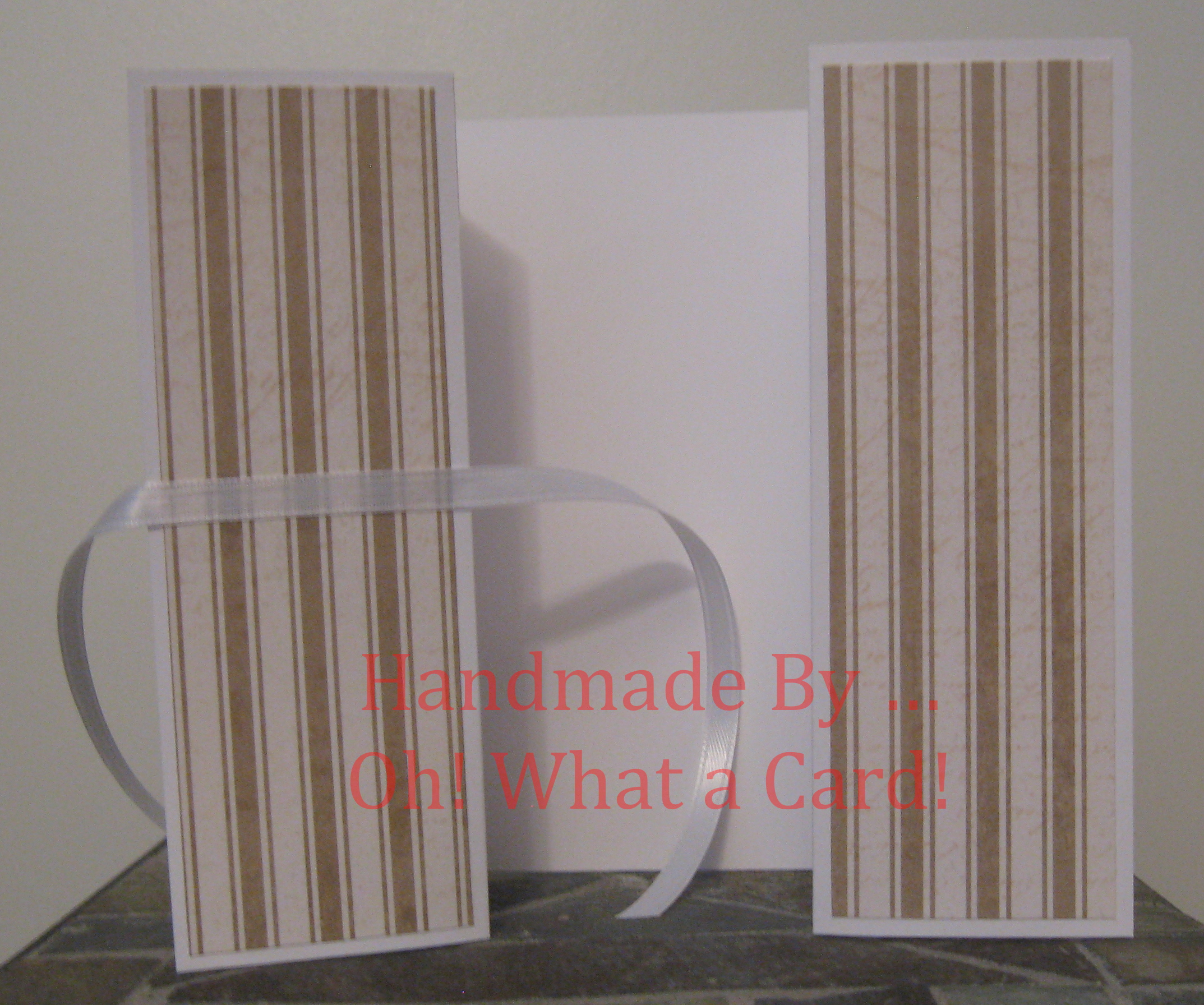 Golden White Stripes Shutter-Fold Card