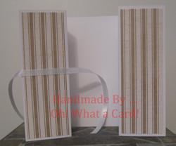 Golden White Stripes Shutter-Fold Card