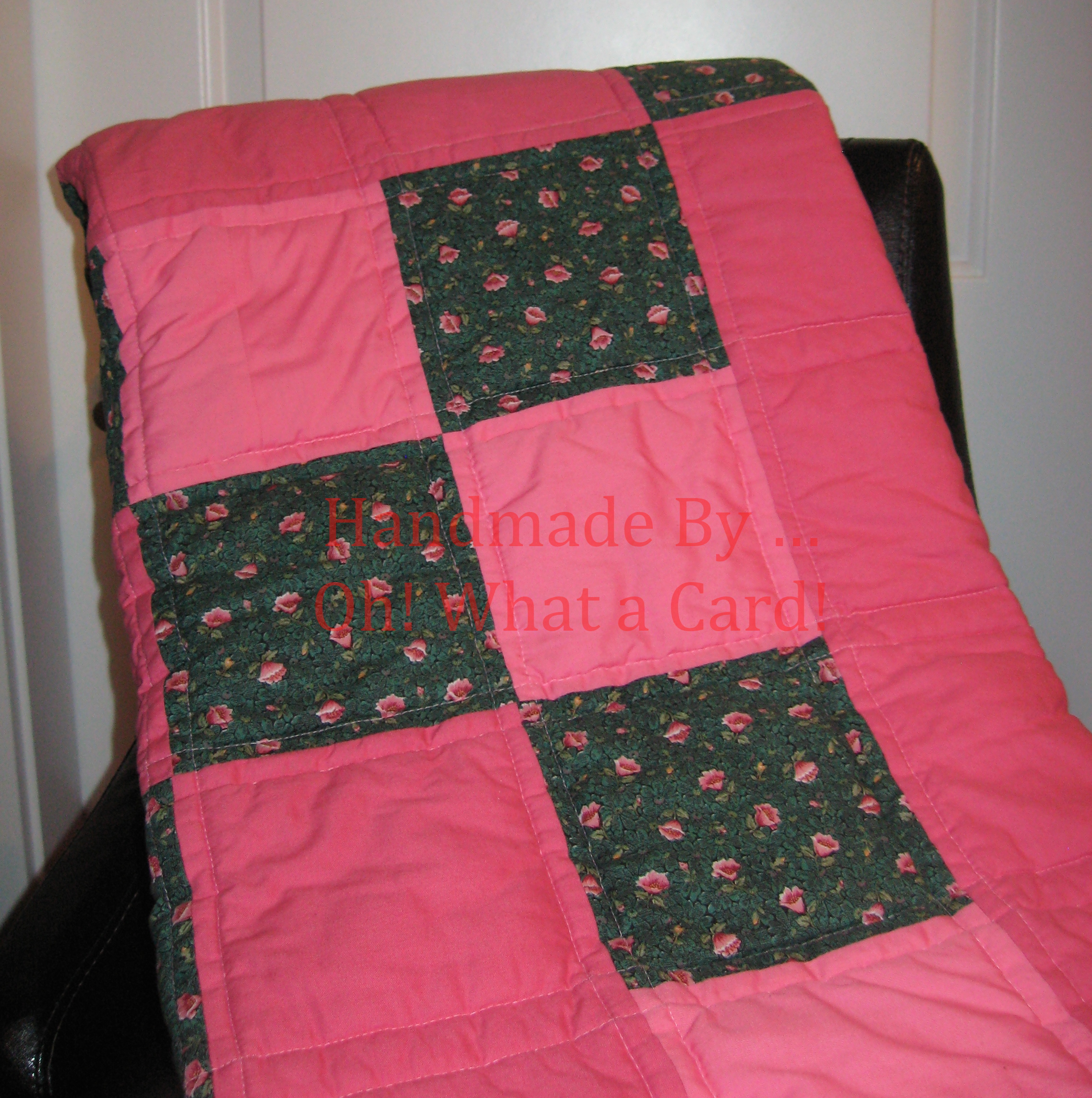 Coral Reversible Quilt