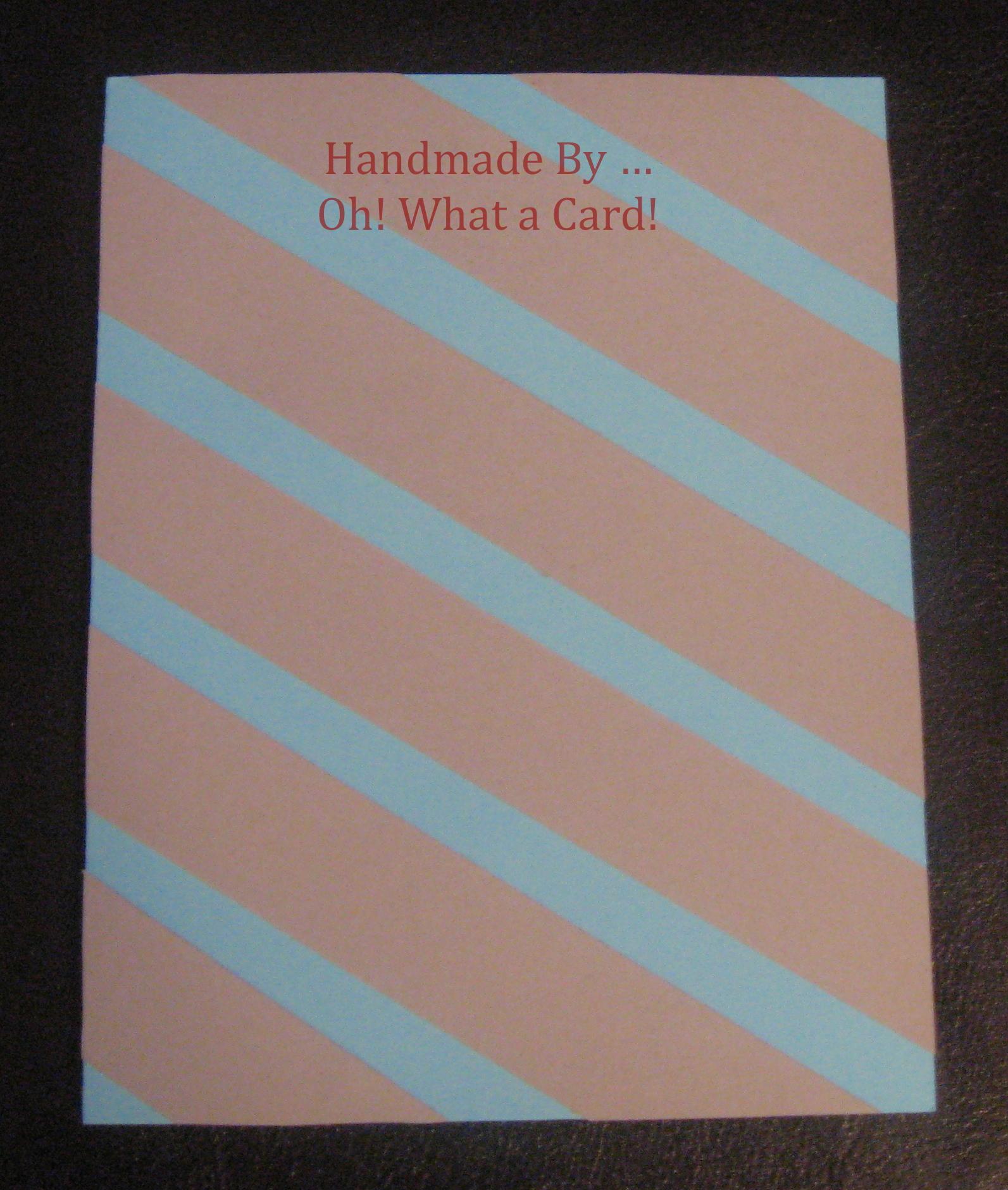 Sensational Stripes - Sea Blue Card