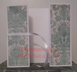 Light Blue Flowers Shutter-Fold Card