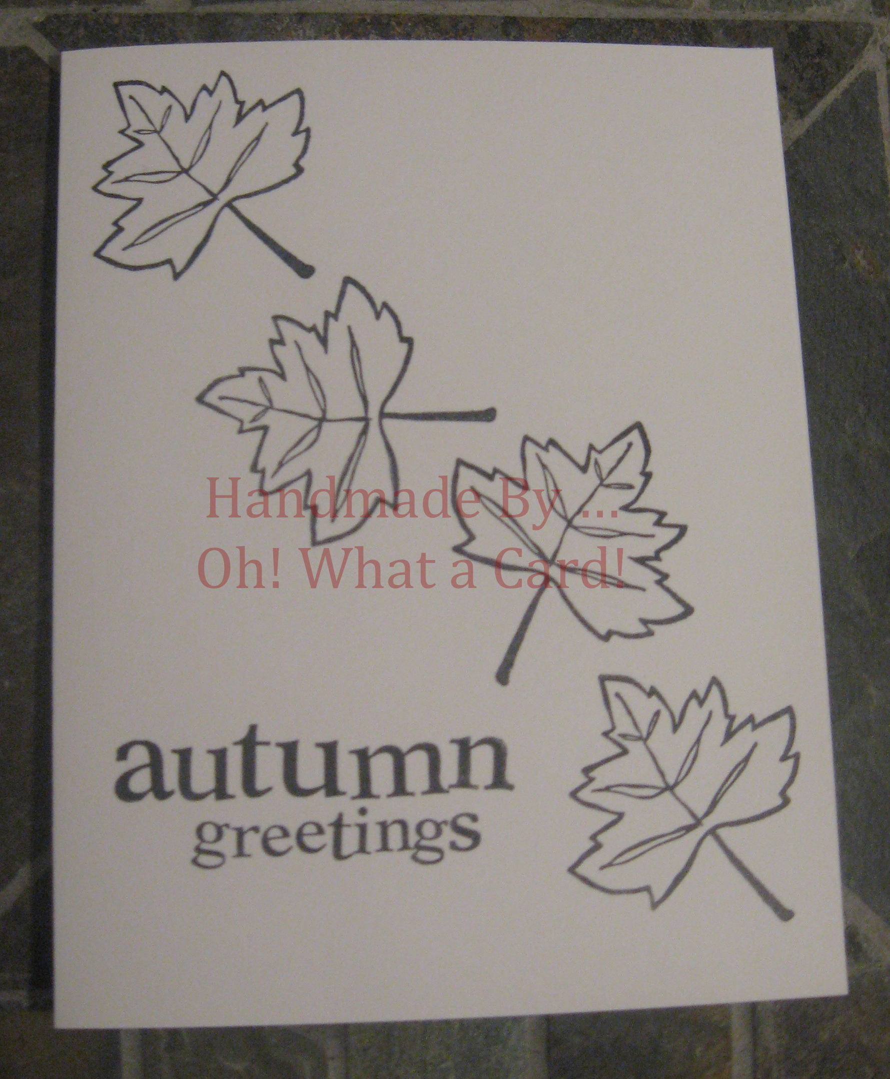 Autumn Greetings Autumn Leaves Card
