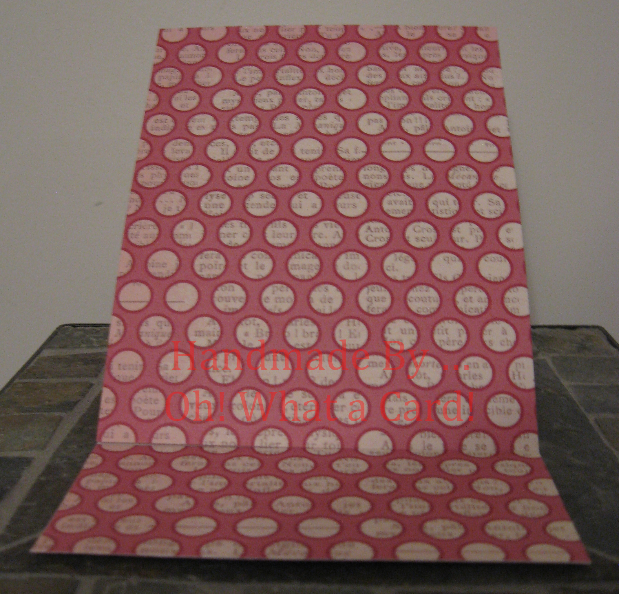 Blank Pink Dots Mantle Display Card