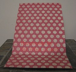 Blank Pink Dots Mantle Display Card