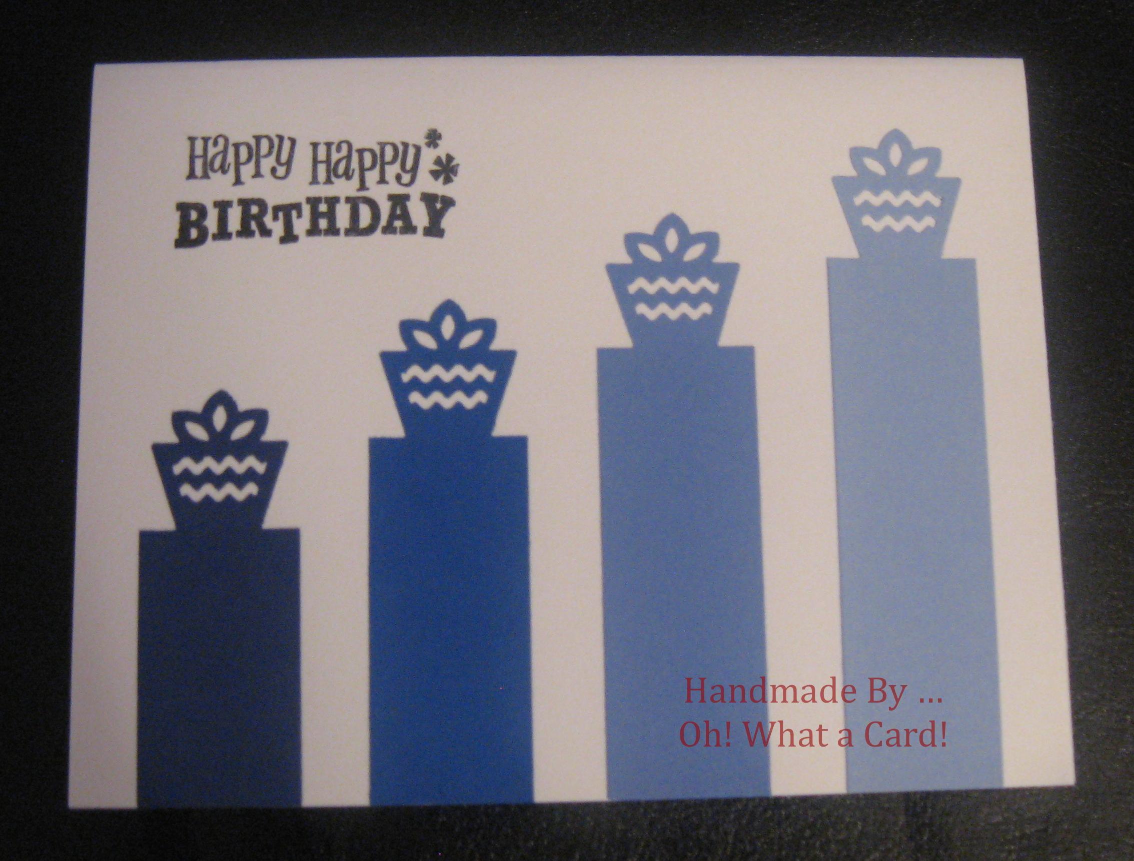 Gift Podium - Blue Card