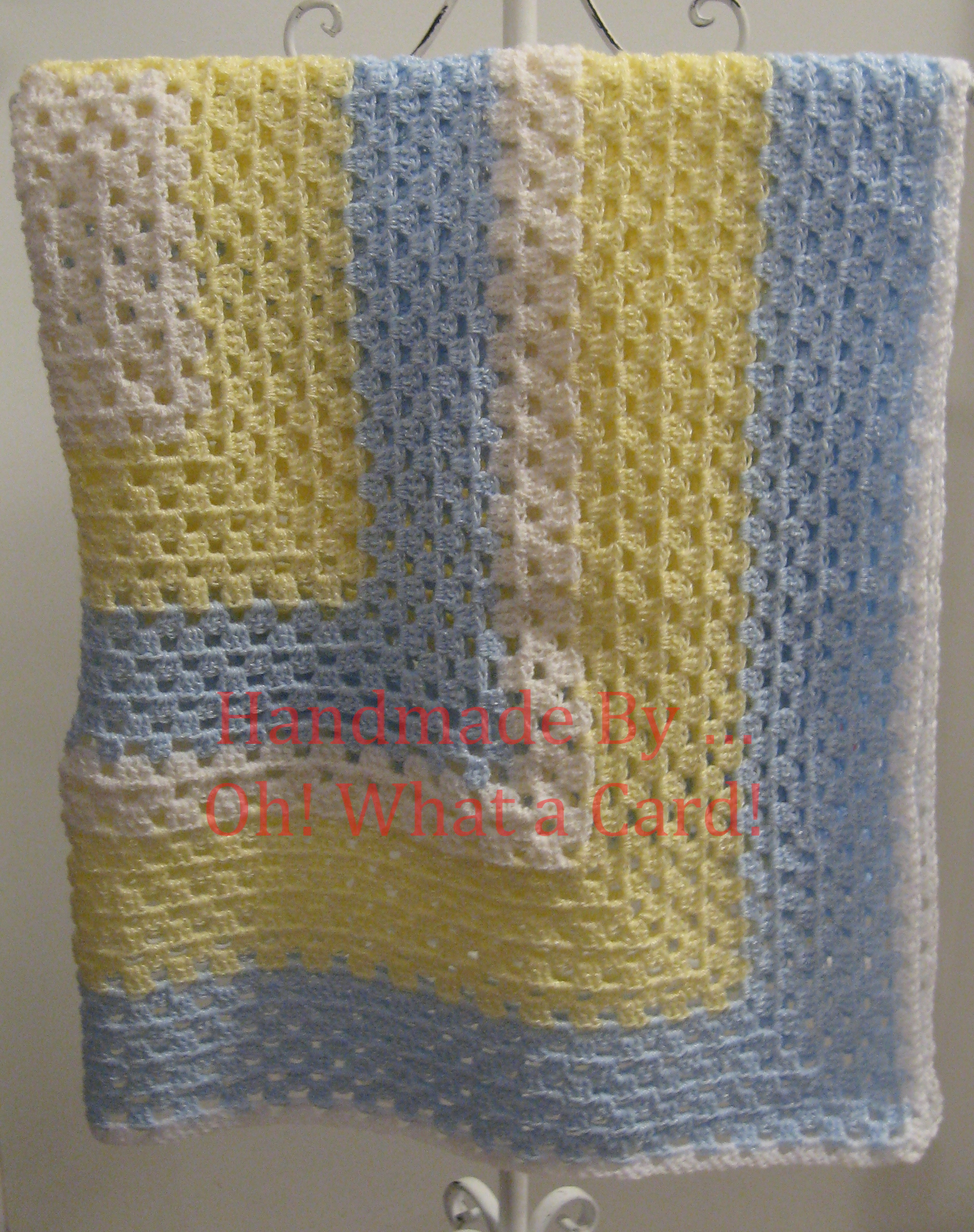 White, Yellow & Blue Blanket