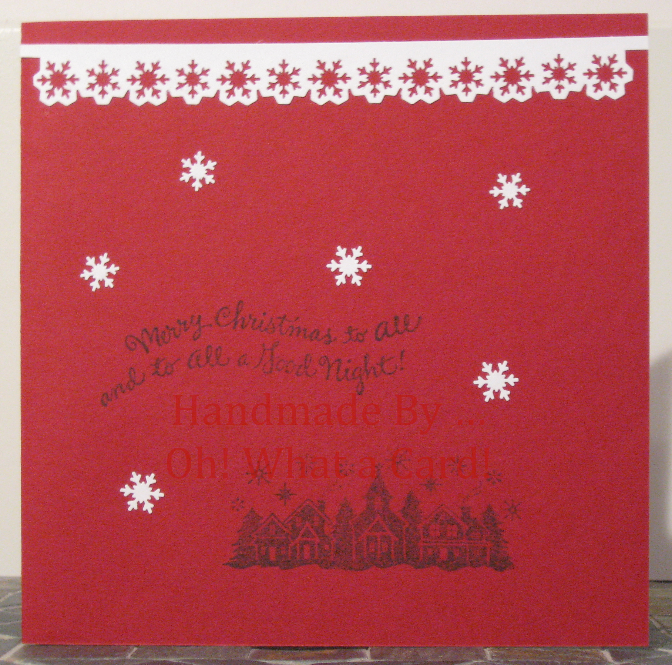 Snowy Village Christmas Card