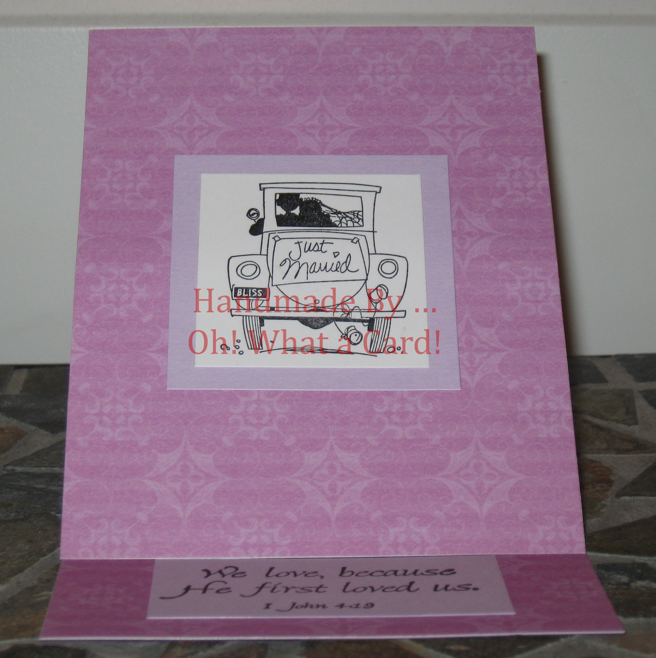 Just Married Mantle Display Card