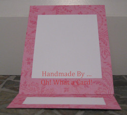 Blank Pink Mantle Display Card
