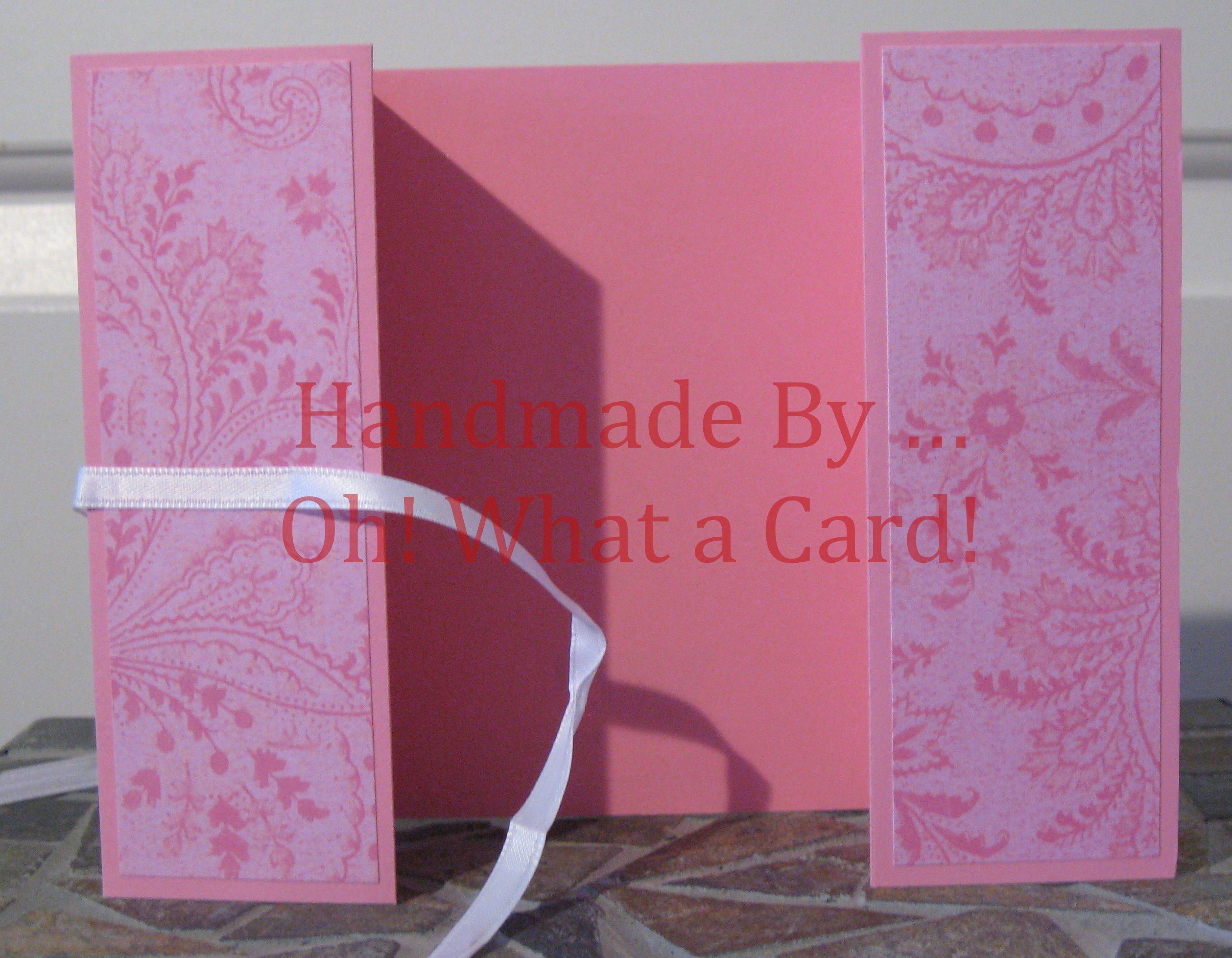 Pink Florals Shutter-Fold Card