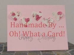 Birthday Hearts Card