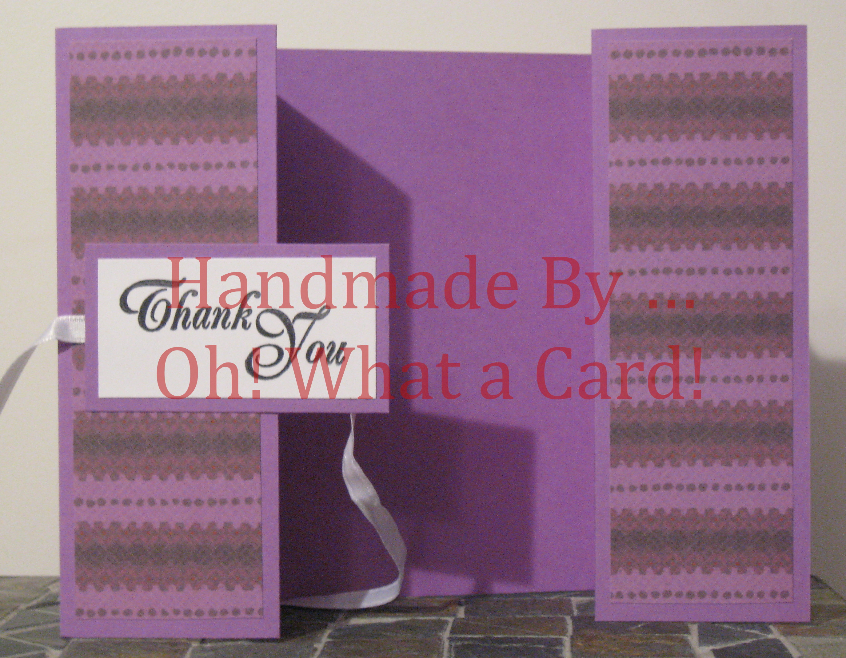 Purple T.Y. Shutter-Fold Card