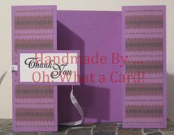 Purple T.Y. Shutter-Fold Card